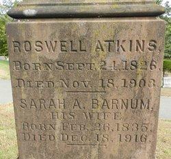 Sarah A <i>Barnum</i> Atkins