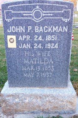 Matilda <i>Anderson</i> Backman