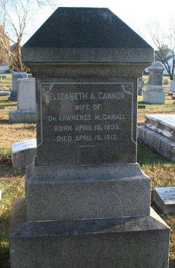 Elizabeth Amanda <i>Cannon</i> Cahall