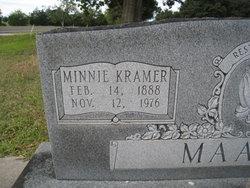 Wilhelmina Minnie <i>Kramer</i> Maass