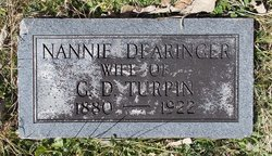 Nannie M <i>Dearinger</i> Turpin