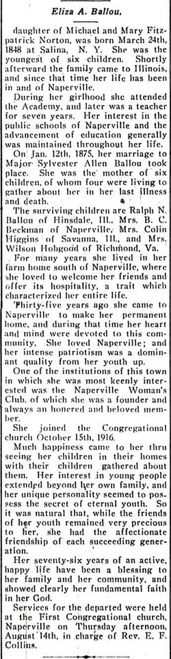 Eliza A. <i>Norton</i> Ballou