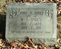 Annie R <i>Dukes</i> Sports