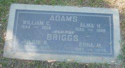 Alma H <i>Warner</i> Adams
