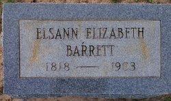 Elsann Elizabeth <i>Barnes</i> Barrett