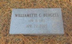 Williamette <i>Currie</i> Burgess