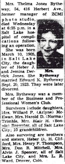 Thelma <i>Jones</i> Bytheway
