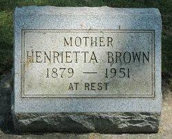 Henrietta Marion Etta <i>Schellinger</i> Brown