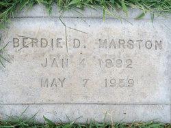 Berdie Dee <i>Foreman</i> Marston