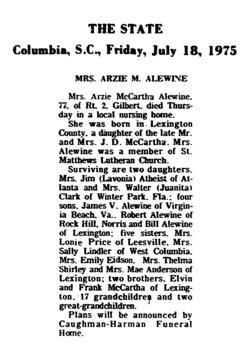 Azra Estelle Arzie <i>McCartha</i> Alewine