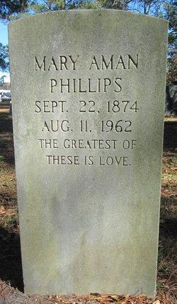 Mary <i>Aman</i> Phillips