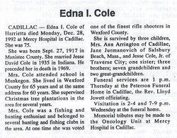 Edna I Cole