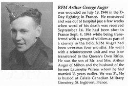 Rflmn Arthur George Auger