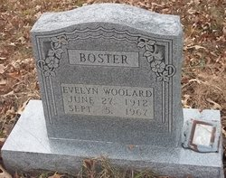 Sarah Evelyn <i>Woolard</i> Boster