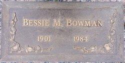 Bessie M Bowman