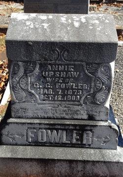 Annie <i>Upshaw</i> Fowler