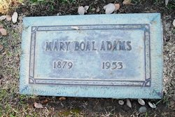 Mary <i>Boal</i> Adams
