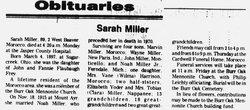 Sarah <i>Frey</i> Miller