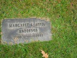 Margaret K <i>Appel</i> Anderson