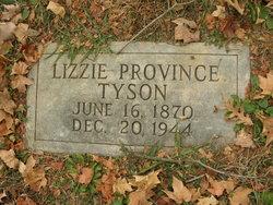 Lizzie <i>Province</i> Tyson