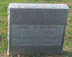 Jane <i>Robinson</i> Carson