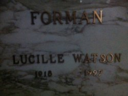 Lucille <i>Watson</i> Forman
