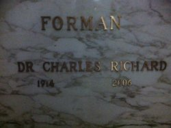 Dr Charles Richard Forman