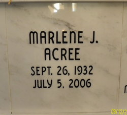 Marlene J Acree