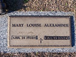 Mary Louise Alexander