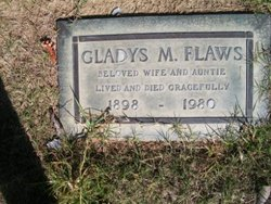 Gladys M <i>Morton</i> Flaws
