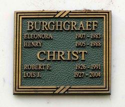Lois Jean <i>Burghgraef</i> Christ