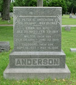 Emma <i>Peterson</i> Anderson