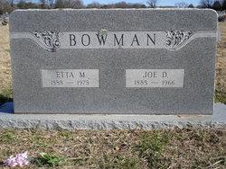Joseph Adolphus Bowman