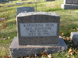 Katherine <i>Johnson</i> Hein