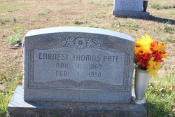 Earnest Thomas Pate