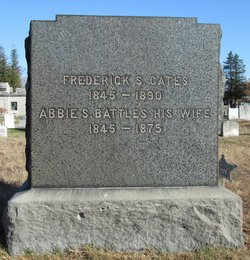 Mrs Abbie Foster <i>Battles</i> Gates