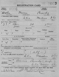 Walter Hamer Bundy