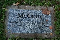 Jennie M McCune