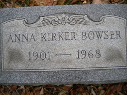 Anna <i>Kirker</i> Bowser