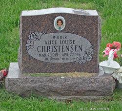 Alice Louise <i>Matzen</i> Christensen