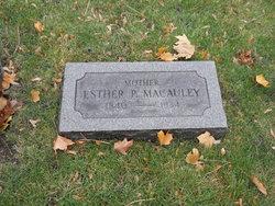 Esther <i>Parker</i> Macauley