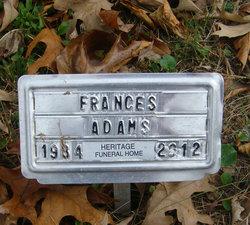 Frances <i>Banks</i> Adams