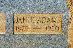 Mary Jane Janie <i>Strickland</i> Adams