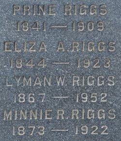 Minnie R Riggs