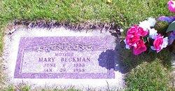 Mary Amelia <i>Boettcher</i> Beckman