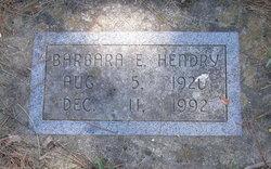 Barbara E Hendry