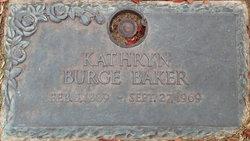 Kathryn G <i>Burge</i> Baker