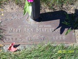 Mary Ann <i>Stapleton</i> Stapleton