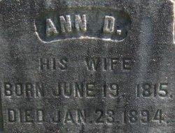 Ann D <i>Foster</i> Briggs