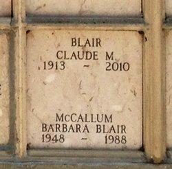 Maj Claude Maclary Blair